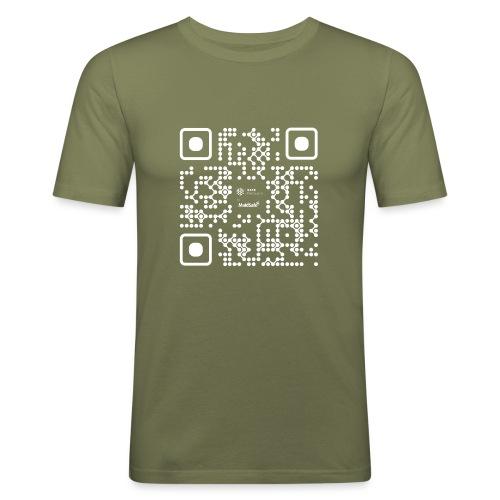 QR - Maidsafe.net White - Men's Slim Fit T-Shirt
