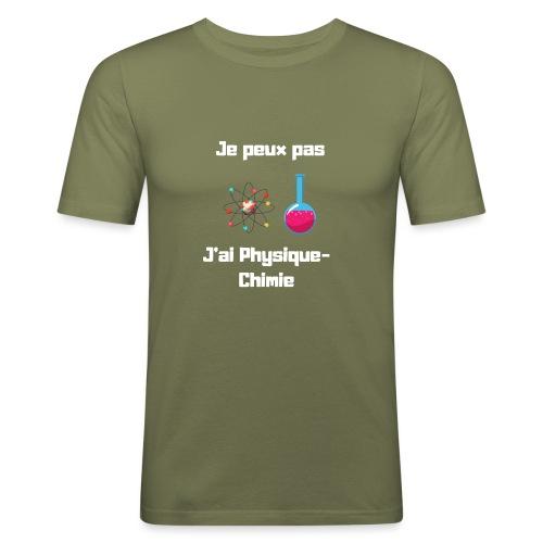 Je peux pas, j'ai physique chimie - T-shirt près du corps Homme