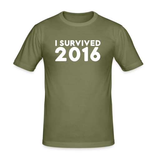 I SURVIVED 2016 - Men's Slim Fit T-Shirt