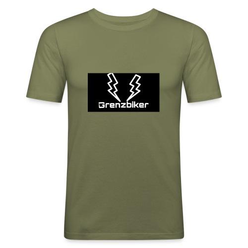 Grenzbiker logo - Männer Slim Fit T-Shirt