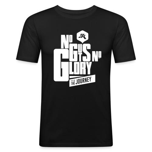 NGNG: WHITE / Red - Men's Slim Fit T-Shirt