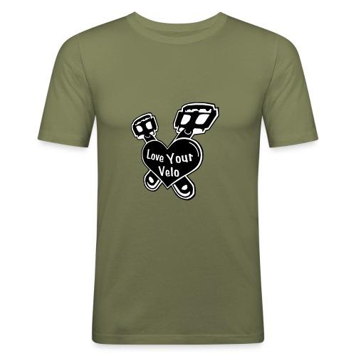 Love Your Velo - Männer Slim Fit T-Shirt
