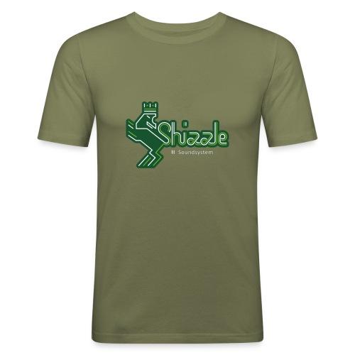 shizzle logo bunt white whitesoundsystem - Männer Slim Fit T-Shirt