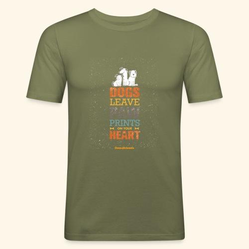PAWPRINTONHEART - Maglietta aderente da uomo