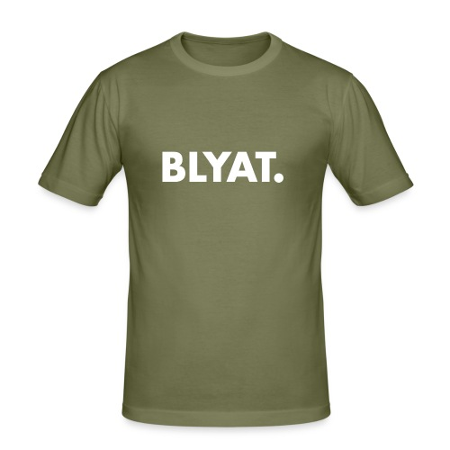 BLYAT. WHITE REPLICA - Mannen slim fit T-shirt