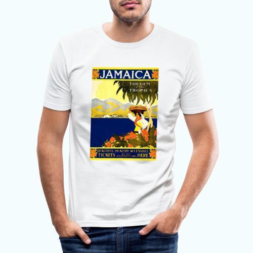Jamaica Vintage Travel Poster - Men's Slim Fit T-Shirt