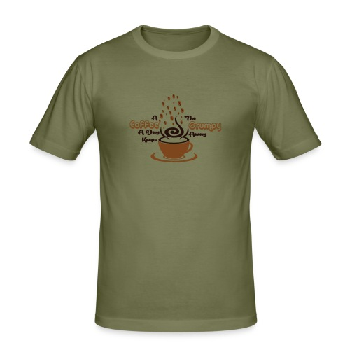 Coffee A Day - Men's Slim Fit T-Shirt