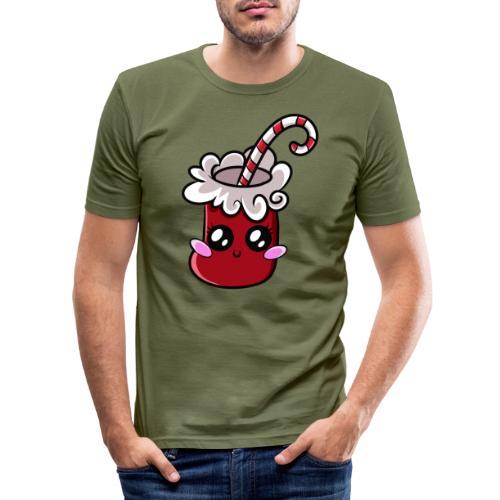 Chaussette de Noël Kawaii ! - T-shirt près du corps Homme