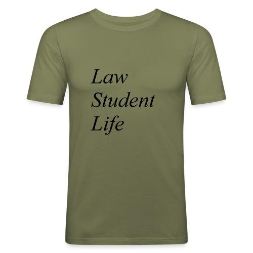 Law Student Life - Maglietta aderente da uomo