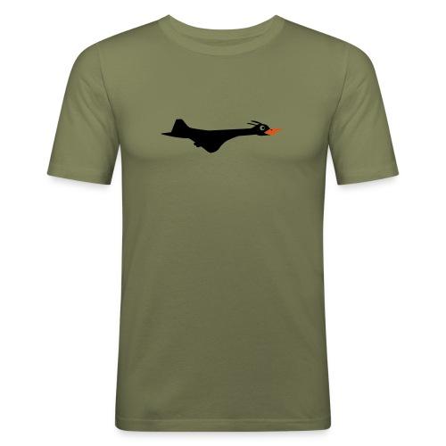 supersonicprint - Slim Fit T-skjorte for menn