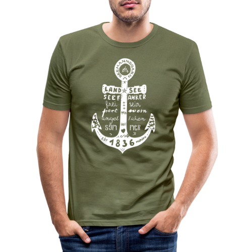 Seemanns Glück ! - Männer Slim Fit T-Shirt