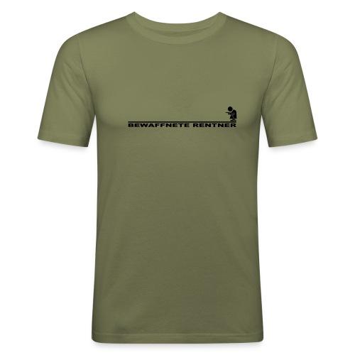 Rentner mit Linie schwarz png - Männer Slim Fit T-Shirt