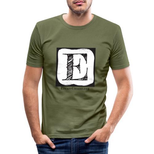Logo ErrareUmano (scritta nera) - Maglietta aderente da uomo