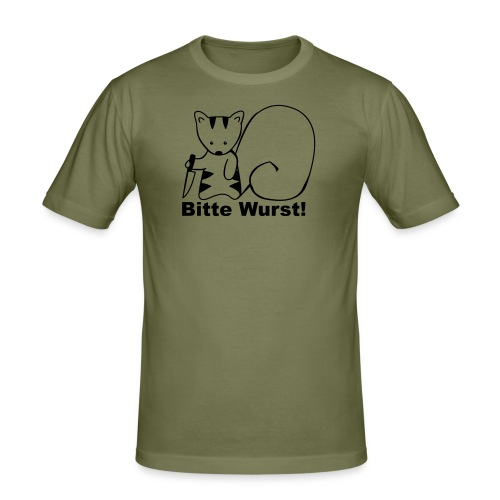 bitte wurst! - Männer Slim Fit T-Shirt