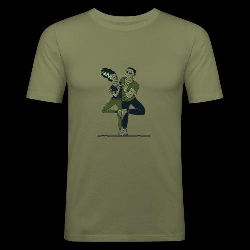 Partner Yoga - Männer Slim Fit T-Shirt