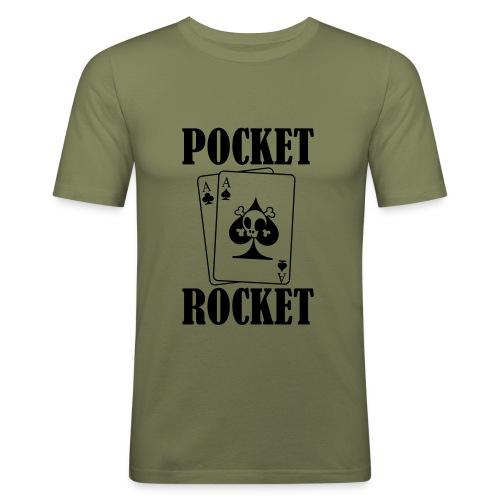 pocketrocket - Mannen slim fit T-shirt