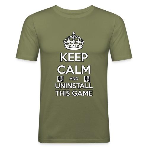 Keep Calm - Maglietta aderente da uomo