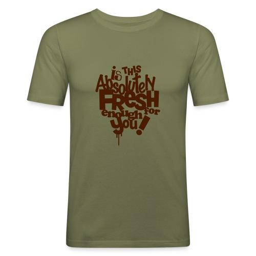 enoughfresh - Mannen slim fit T-shirt