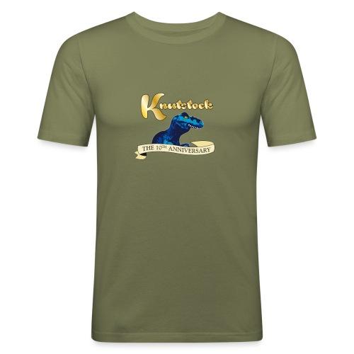 KnutstockAnniversaryBanner Thyranathaurus - Männer Slim Fit T-Shirt