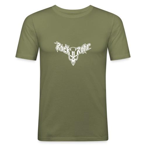 rnr logo aufschwarz - Männer Slim Fit T-Shirt
