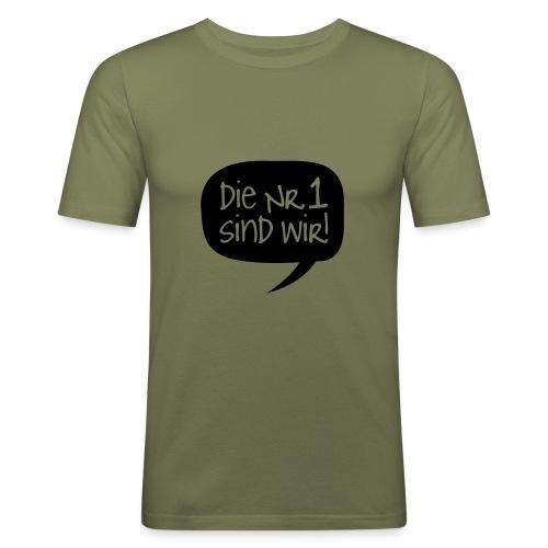 nr1 - Männer Slim Fit T-Shirt