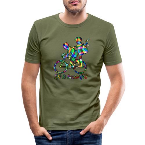 Life is beautiful - Männer Slim Fit T-Shirt