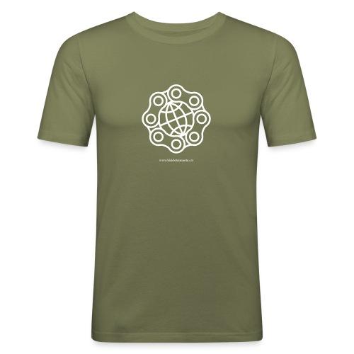 Logo bicicleta i manta - Camiseta ajustada hombre