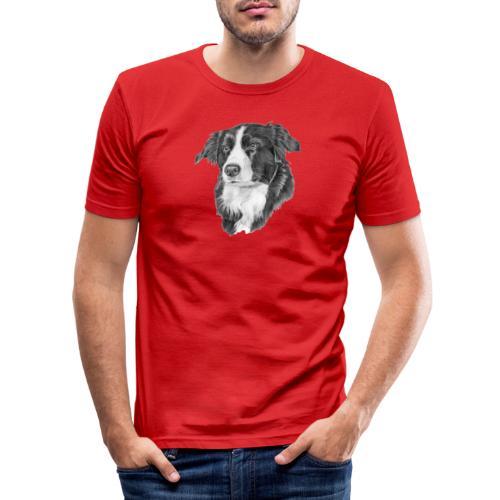 border collie 1 - Herre Slim Fit T-Shirt