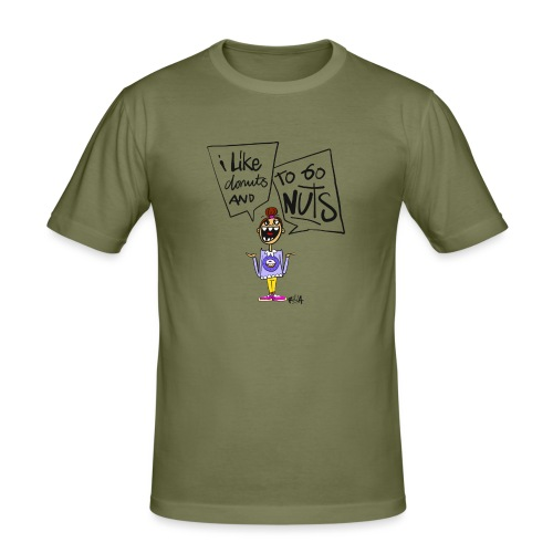 I like donuts and to go NUTS - Mannen slim fit T-shirt