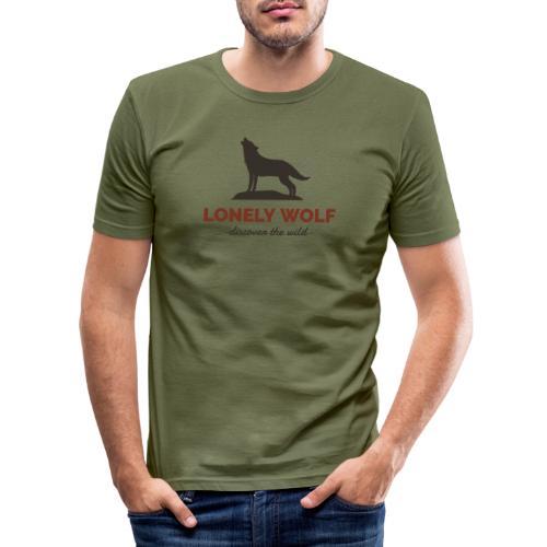 Lonely Wolf - Männer Slim Fit T-Shirt