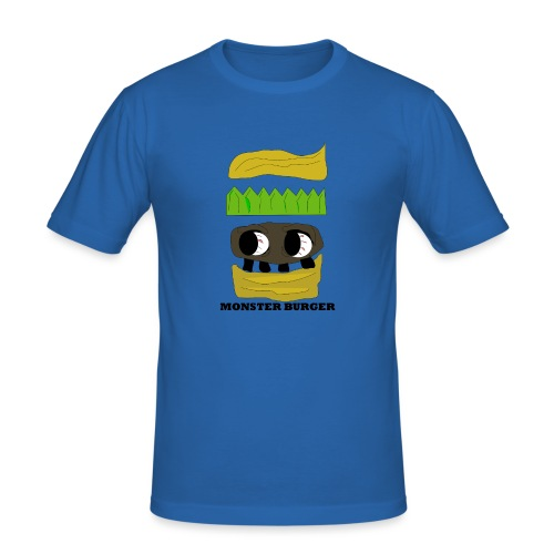 MONSTER BURGER - Männer Slim Fit T-Shirt