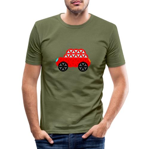 The Car Of Life - M01, Sacred Shapes, Red/R01. - Men's Slim Fit T-Shirt
