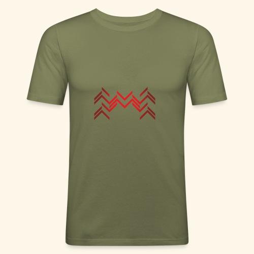 Lineas burdeos - Camiseta ajustada hombre