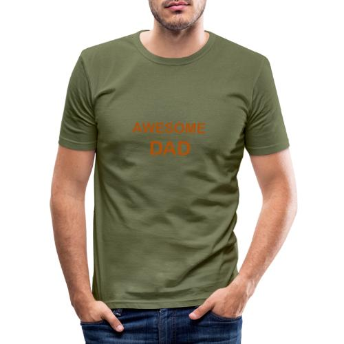 awesome dad 1 - Men's Slim Fit T-Shirt