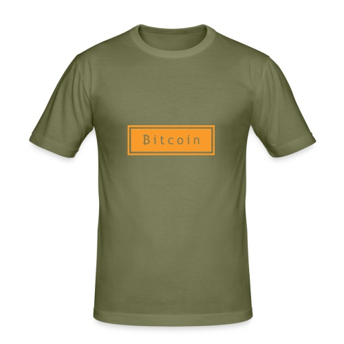 bitcoin basic - Mannen slim fit T-shirt