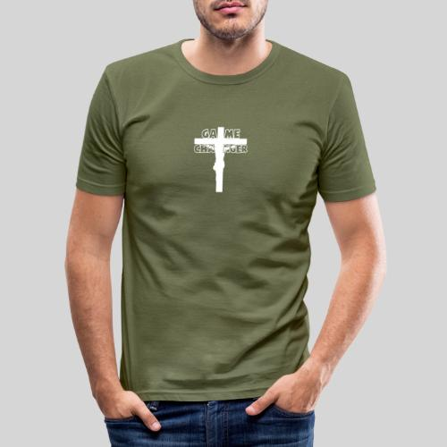 Jesus Mein Game Changer Lebensveränderer Held Gott - Männer Slim Fit T-Shirt