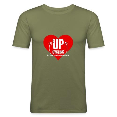 upcycling ist eine Lebenseinstellung - Männer Slim Fit T-Shirt