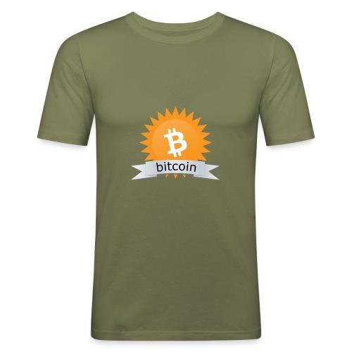Bitcoin logo - Mannen slim fit T-shirt