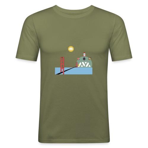 Avalanche Good Bridging to walhalla - Mannen slim fit T-shirt