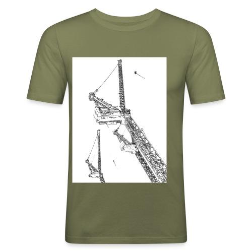 cranes - Men's Slim Fit T-Shirt