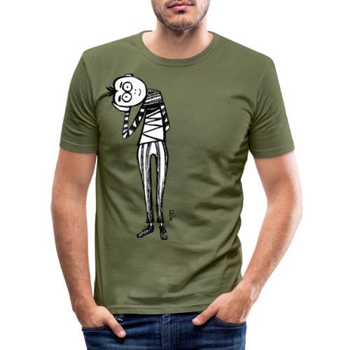 Punto di vista in bianco e nero - Maglietta aderente da uomo