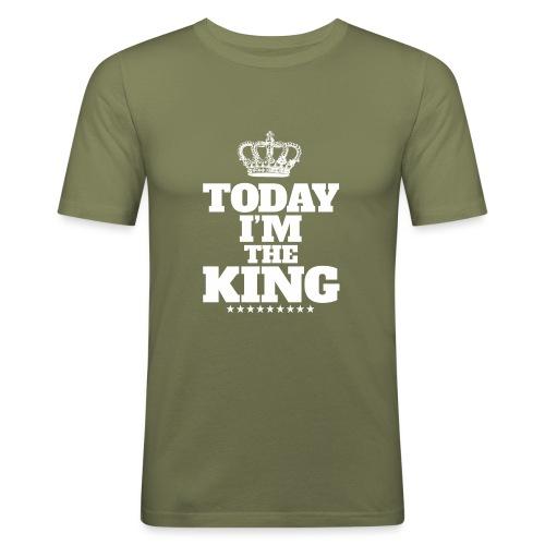 today i'm the king - Obcisła koszulka męska