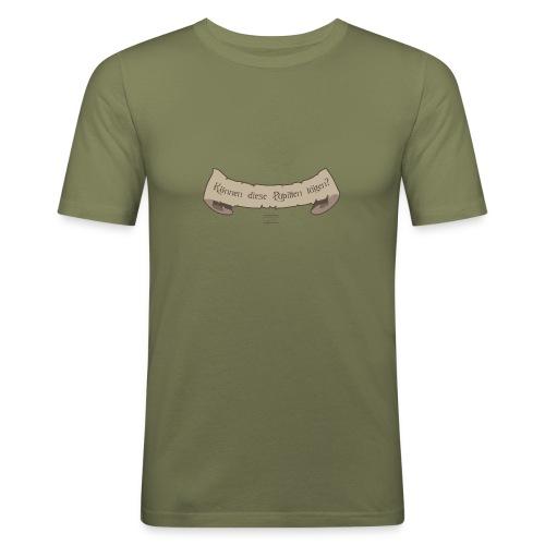 Können die Pupillen lügen - Männer Slim Fit T-Shirt