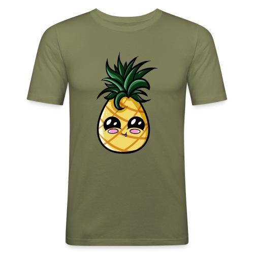 Ananas Kawaii - T-shirt près du corps Homme
