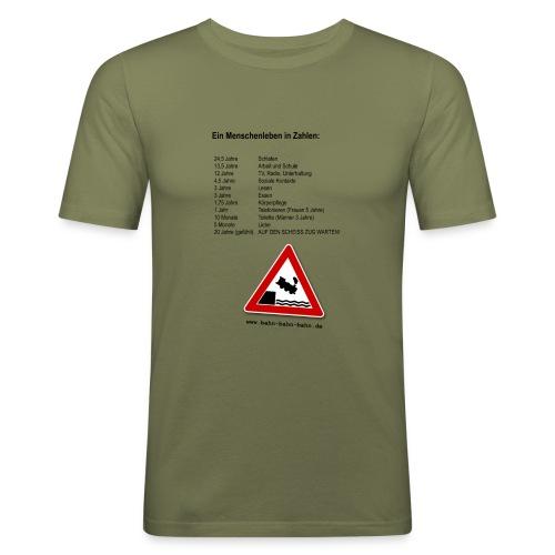 Menschenleben in Zahlen - Männer Slim Fit T-Shirt