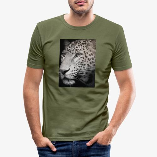 Schwarzer Tiger - Männer Slim Fit T-Shirt