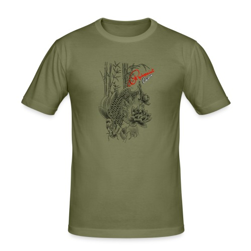 tattoo carp koi pykopaint custom - T-shirt près du corps Homme