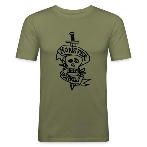 monsterboards skull and dagger - Mannen slim fit T-shirt