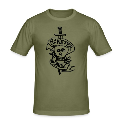 monsterboards skull and dagger - slim fit T-shirt