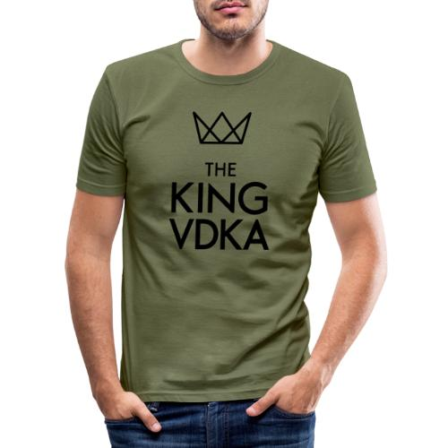 The King VDKA Logo schwarz RGB - Männer Slim Fit T-Shirt